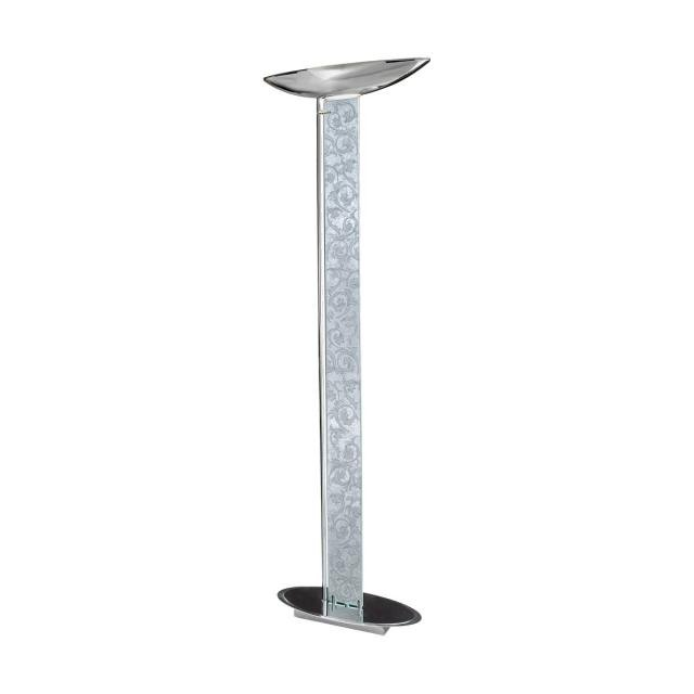 Floor Lamp DELPHI Decor Toscana silver/white, chrome, silver-plated, hand-painted