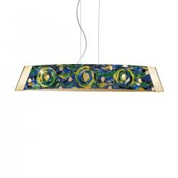 Pendant Lamp BARCA, 90 Decor AQUA BLUE, 24-carat gold, gold-plated, hand-painted
