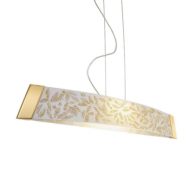 Pendant Lamp BARCA, 90 Decor LIBERTA WHITE ANTIQUE, 24-carat gold, gold-plated, hand-painted
