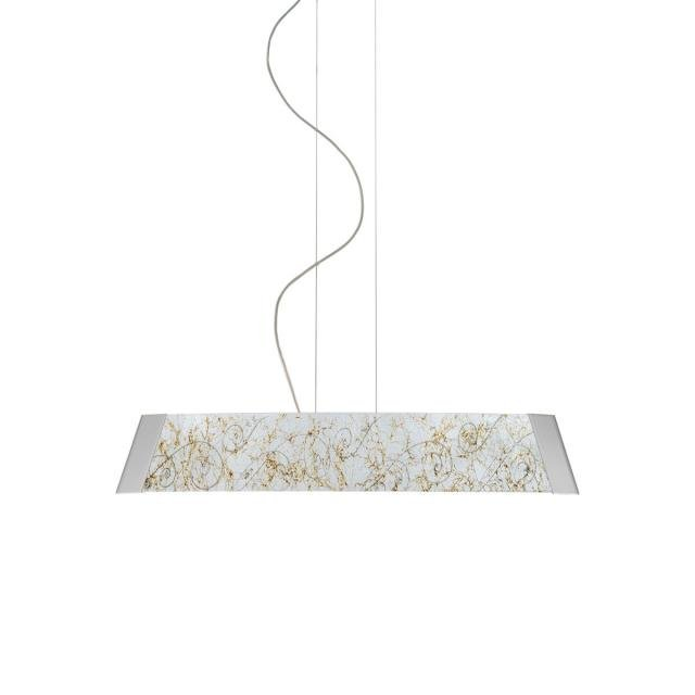 Pendant Lamp BARCA, 90 Decor MEDICI SILVER, chrome, silver-plated, hand-painted