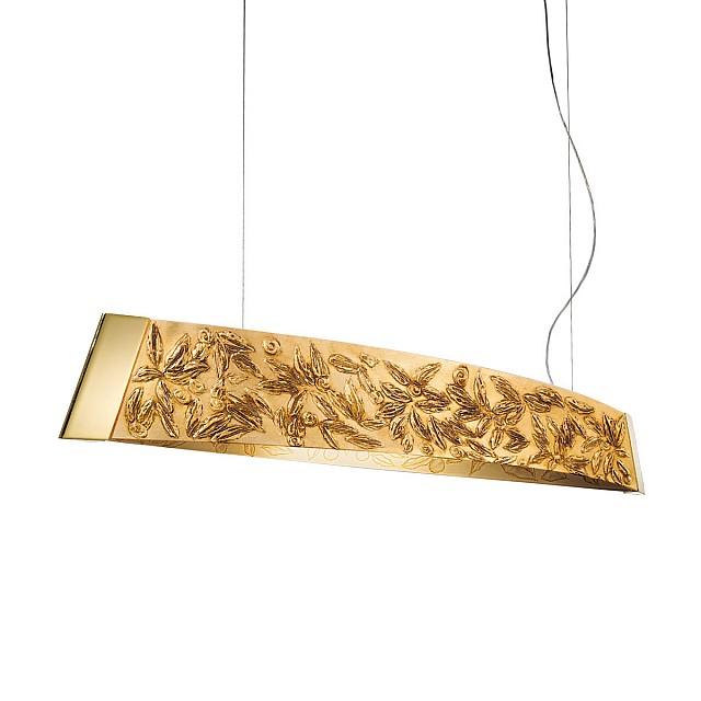 Pendant Lamp BARCA, 130 Decor Liberta gold, 24-carat gold, gold-plated, hand-painted