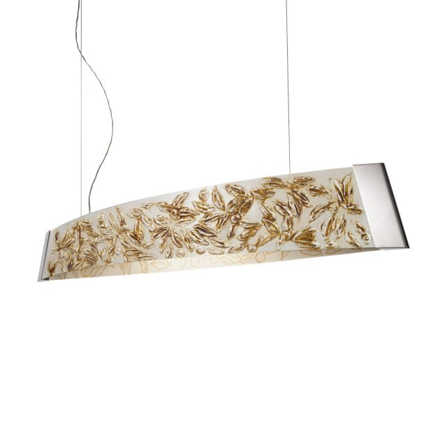 Pendant Lamp  BARCA, 130  Decor LIBERTA SILVER ANTIQUE, chrome, silver-plated, hand-painted
