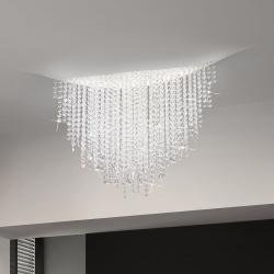 Ceiling Lamp FONTE DI LUCE, 120 White, OPTIC KOLARZ clear