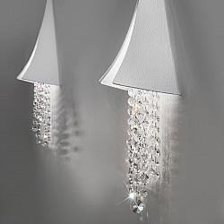 Wall Lamp FONTE DI LUCE White, OPTIC KOLARZ clear