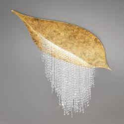 Ceiling Lamp FONTE DI LUCE, 120 GOLD LEAF, OPTIC KOLARZ clear