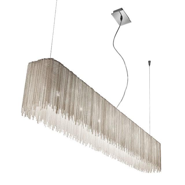 Pendant Lamp CLOUD, 130 Chrome, metal chains